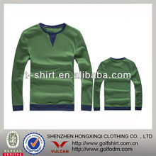 High Quality 100 Combed Cotton Pullover Sweater For Men Green Color