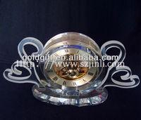 elegant table fashion crystal clock gifts