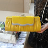ROHS Top quality fashion Rhinestone PU leather drape clutch evening bag in stock Item: 4020