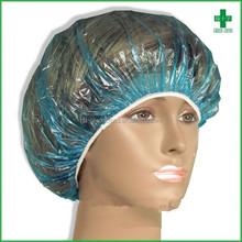 Comfortable and convenient free size disposable PE beauty cap shower cap