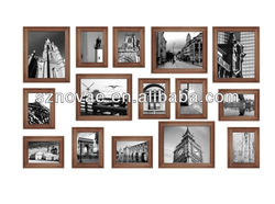 Brown High Quality Wooden Collage Picture Frame