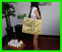 2015 Factory Direct Hot Selling polyester mesh shopping bag metallic color mesh bag supplier from china