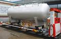 Seguridad superior montado sobre patines de la estación de servicio de alta calidad cilindro de gas estación de servicio de gas regulación de medición estación
