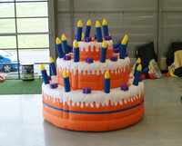 birthday party inflatable balloon cake