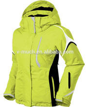 Ladies ski jackets for outdoor hiking and camping