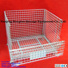Steel Collapsible Wire Mesh Container / Storage Cage for Pallet Rack
