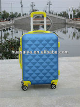 2013 hot selling ABS printed hard shell abs four wheels super light luggage