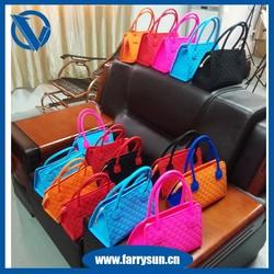2015 Lastest discount handbags/ best handbags/ silicone rubber cute handbags for christmas day