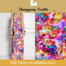 Flower custom printing knitted jersey fabric suppliers