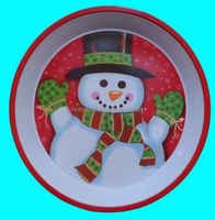 30*H5cm christmas round melamine serving tray with full printing (ITEM NO. CSD1009)