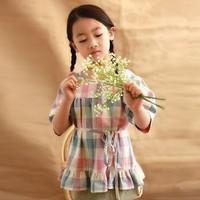 SUMMER BOUTIQUE DRESS,SUMMER DRESS,GIRLS PLAID SHORT DRESSES