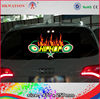 2014 super cool 3D LED Car logo Stickers light with rolled up package