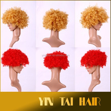 Synthetic Hair Material and American Football Fans Wig Hallowmas Party Cosplay Wigs