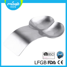 New design 430 metal double soup spoon rest