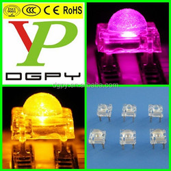 Super flux led with 5mm lens pink yellow white green blue ( CE & RoHS Compliant )