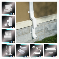 PVC pipes and pvc rain gutter for roof drainage system