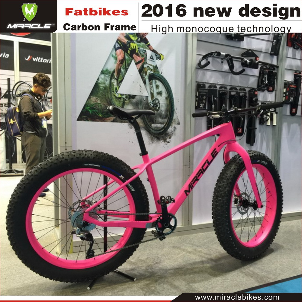 New Lightest Carbon Fat Bike Snow Bicycle Frame 12x190mm Thru Axler ...