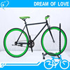 CHEAP ROAD BIKE/700C Wheels green/black color Road Bike with high carbon steel for Sale