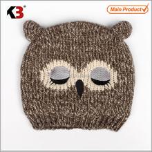 2015 wholesale children animal pattern crochet knitted kids beanie hat