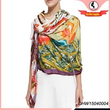 High quality hot selling silk scarf for fashion ladies