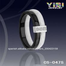 Joyería <span class=keywords><strong>al</strong></span> <span class=keywords><strong>por</strong></span> <span class=keywords><strong>mayor</strong></span>, anillo directo de fábrica, anillo de cerámica de plata