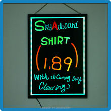 2015 Christmas hot sale new design ultra-Thin Frame RGB5050 led display price board