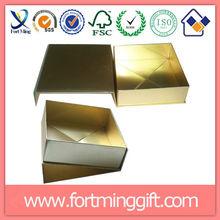 New Arrival Fashion Eco Magnet closure Custom Handmade Rigid cardboard Flat folding boxes