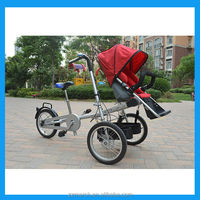 latest mother baby bike stroller with canopy