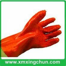 Química para el uso industrial de color naranja de pvc guantes de seguridad industrial/de seguridad guantes de trabajo