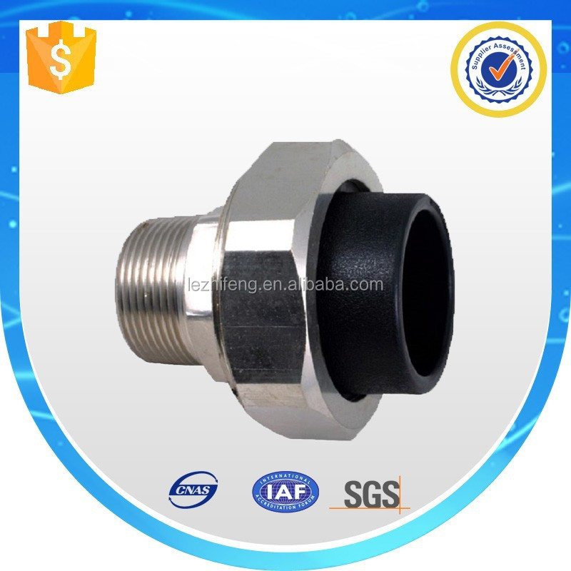 Hdpe socket threaded plastic pipe fitting for male adapter