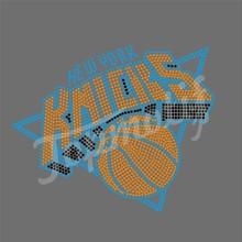 New Design Knicks Sport Team Hot Fix Rhinestone Design