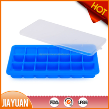 21 holes square silicone ice cube tray with lid