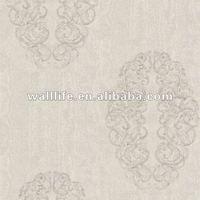 NE2530 non-woven glitter embroidery wallpaper papel de parede
