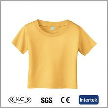 sale online uk high quality fashion yellow blank baby t-shirts wholesale