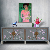Hot sale Chinese antique furniture living room cabinet hand painting tv cabinet