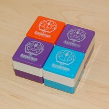 New kids square palstic self inking stamp