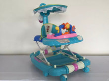8 wheels plastic baby walker with music and many toys