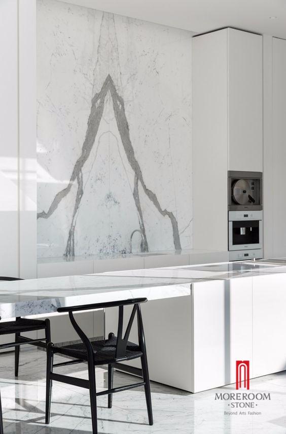 Statuario White Marble Wall Cladding : Italy aluminum honeycomb backed bianco carrara statuario