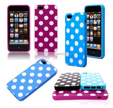 Stylish polka dot case glossy cell phone cover for Samsung Galaxy S3/ S4 / S5 and Iphone 11 colors