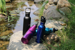 304 metal stainless steel black water bottle MX-SS586