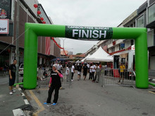 Hot green advertising square inflatable PVC finish line archways