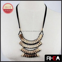 Handmade Craft Wave Multi Pipe Necklace