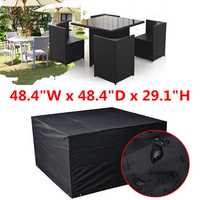 123x123x 74cm Waterproof Cube Set Cover Table Shelter Garden Patio Furniture Rain Protect Snow