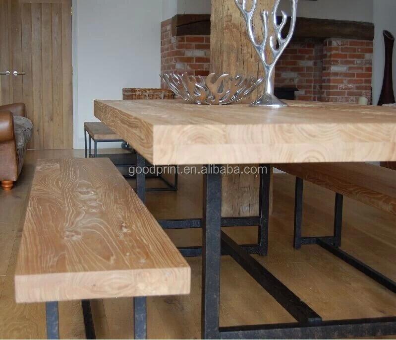 Chino antiguo rústico natural de la madera de teca mesa comedor ...