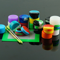 silicone/bho oil dab wax container/jar/customized atomizer/box/3ml 5ml 6ml 7ml tea sugar coffee ceramic storage jar with spoon