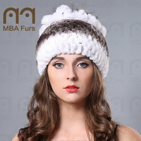 Animal Fur Hat Sexy Girl Womens Rex Rabbit Fur hats with Silver Fox Fur for Ladies Hats online