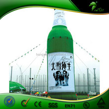 2015 high quality giant 60ml plastic inflatable bottle
