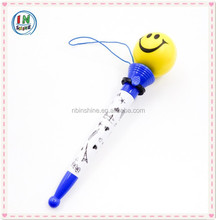 Pu smiling face bouncing ball pen , novelty type pen