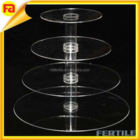 trade assurance NEW 4 Tier Clear Acrylic Stacked Party Cupcake Dessert Tower Stand