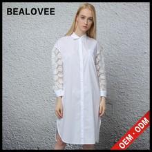 2015 mode weiß lange neueste baumwollhemd sexy kleid frauen lochmuster marokkanischen kleider zum verkauf